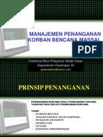 8. Manajemen Korban Bencana Massal