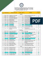 Jadwal Kuliah Smt Ganjil Ta. 2016-2017