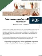 Para Casas Pequeñas... ¡16 Grandes Soluciones!