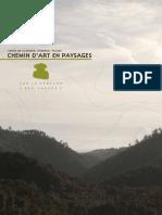 CHEMIN D'ART EN PAYSAGES le sentier des lauzes