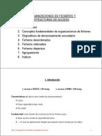 Organizacion de Ficheros y Estructura Acceso