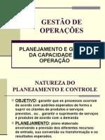 Planejamento e Gestão Da Capacidade Das Operações