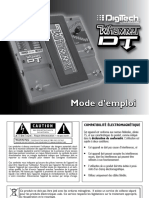 Whammy DT Manual-French Original