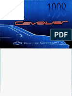User Manual 1998 Chevrolet Cavalier
