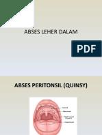 ABSES LEHER DALAM Paritonsil (Quinsy) Dan Submandibula