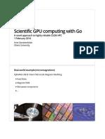 Scientific GPU computing with Go