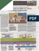 Il Corriere Vinicolo 10 Aprile 2017 Pg 35 CODEX ALIMENTARIUS e Vino Un Dialogo Importante