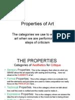 Properties of Art