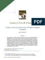 Analysis on the Word-Formation of English Netspeak