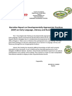 Narrative Report on Developmentally Appropriate Practices