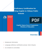 MINEDUC Language Proficiency Certification