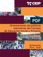 Políticas Educativas 2016 2020