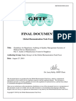 GHTF Guidelines for Auditing Qms Control of Suppliers