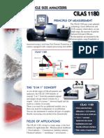 Particle Size Analyzers Cilas 1180 Machine Details