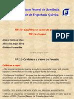 NR 13- Caldeiras e vasos de pressão NR 14-Fornos