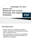 Polymeric Hydrogels for Burn Wound Care