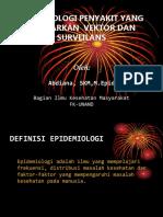 Epid Penyakit Yang Ditularkan Vektor Dan Surveilans 2013
