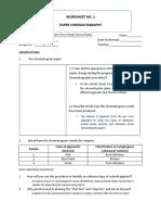Worksheet 1 Chem