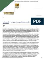 1. Prevenção à Corrupção, Transparência...Rmação — 10 Medidas Contra a Corrupção