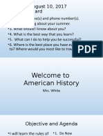 American History Welcome1