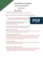 Cuestionario P. Nuevo Testamento Nivelacion Pastoral. (Con Respuestas)