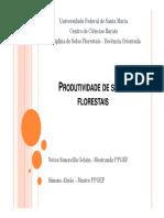 PRODUTIVIDADE DE SÍTIOS FLORESTAIS