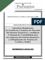 Reglamento de Gestión de Conducta de Mercado del Sistema Financiero