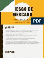 RIESGO DE MERCADO