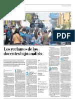 Los reclamos de los docentes bajo análisis - Hugo Ñopo - El Comercio - 18082017