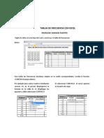 Instructivo Tablas de Frecuencia Con Excel