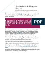 Google Fires Its Employee