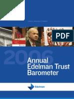 Annual Edelman Trust Barometer 2006
