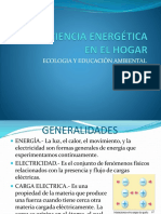 Ecoeficiencia Energética en El Hogar