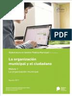 Modulo 1 - La Organizacion Municipal