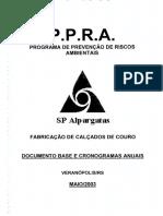 2003 PPRA Fabricação de Calçados de Couro
