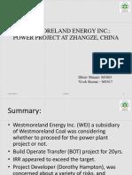 Westmoreland Energy Inc.