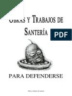 Obras y trabajos de santeria para defenderse.pdf