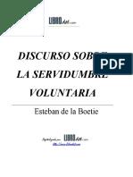 Boetie Esteban de La - Discurso de La Servidumbre Voluntaria