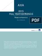 AXA Full Year Results 2015 Press