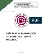 Guía Elaboración Perfil y Tesis Maestria ISO