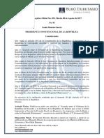 RO# 053-S - Acuerdo Entre El Gobierno de La República Del Ecuador y El Gobierno de La República de Belarús Para Evitar La Doble Imposición (8 Ago. 2017)