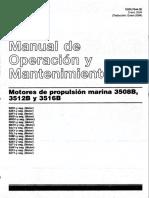 Caterpillar 3508B 3512B 3516B Motores de Propulsion Marina Manual de Operacion y Mantenimiento (SSBU7844-02) Spanish