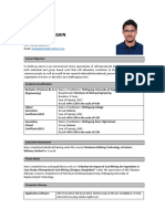 Resume of Shahadat Hossain