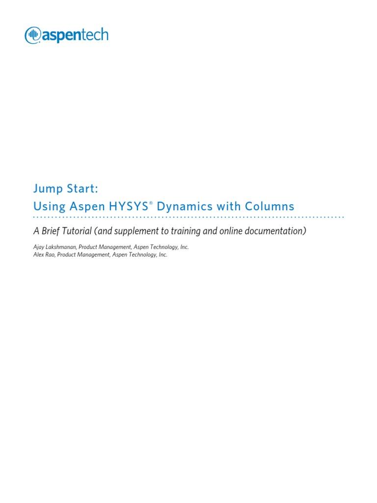Aspen HYSYS simulation and control of distillation columns pdf