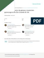 Panorama Setor Gemas Materiais Gemologicos RS