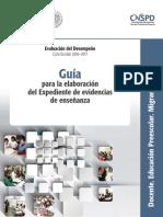03 Guía Académica de Expediente de Evidencia Preescolar Migrantes