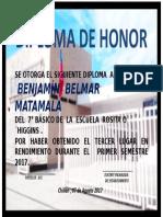 Diploma Premiación Primer Semestre