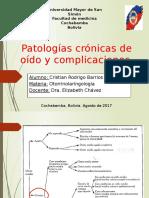 Patologías Crónicas de Oído y Complicaciones