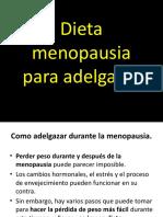 Dieta Menopausia Para Adelgazar