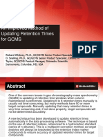 An Improved Method of Updating  Retention Times for GCMS